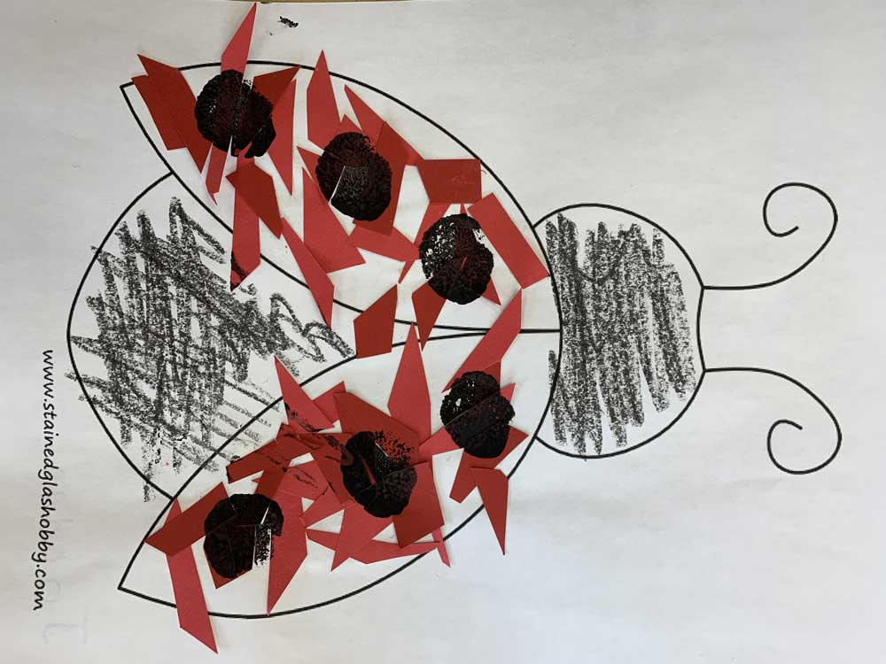 Child's artwork - ladybug