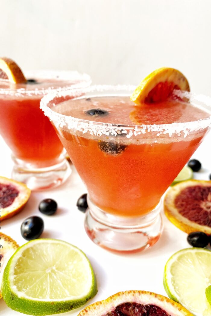 Blueberry and Blood Orange Margarita