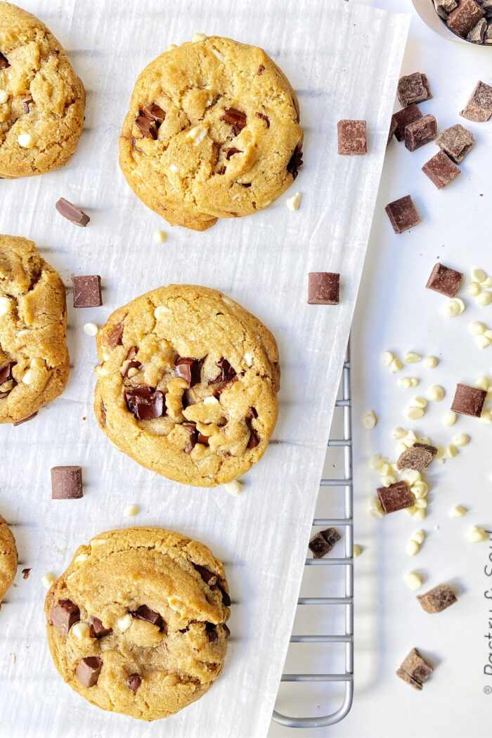 The Ultimate Triple Chocolate Chip Cookies
