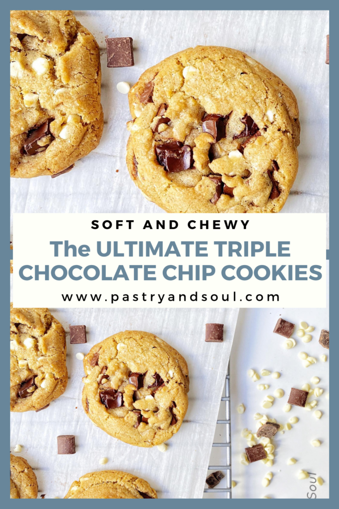 chocolate chip cookies on a sheet pan