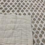 Block Printed,Hand Stitched, Cotton Bed Cover