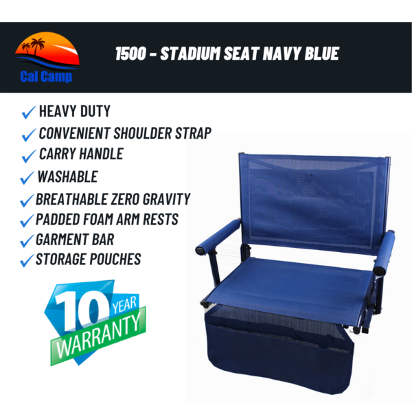1500 – Stadium Seat Navy Blue