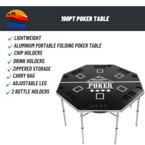 190PT Poker Table
