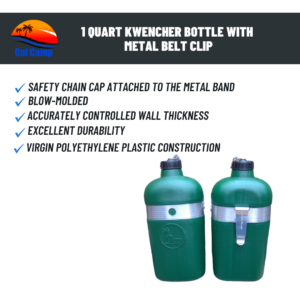 1 Quart Kwencher Bottle with metal belt clip