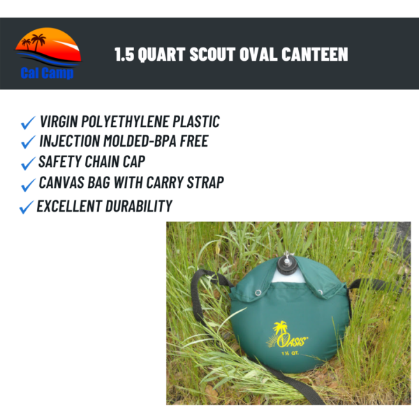 Oasis 1.5 Quart Scout Oval Canteen