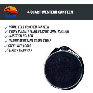 4 Quart Western Canteen