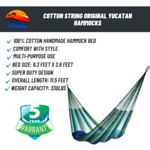 Cotton String Original Yucatan Hammocks
