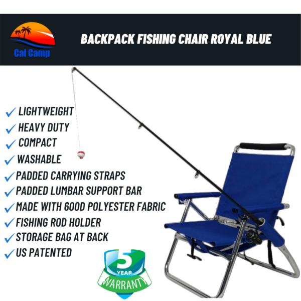 Backpack Fishing Chair Royal Blue