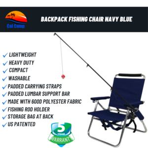 Backpack Fishing Chair Navy Blue