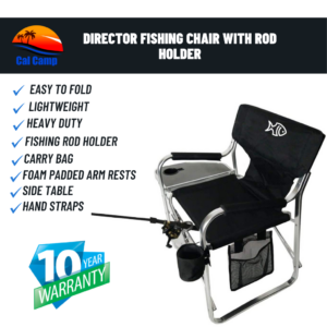 Premium Director Fishing Chair with Rod Holder