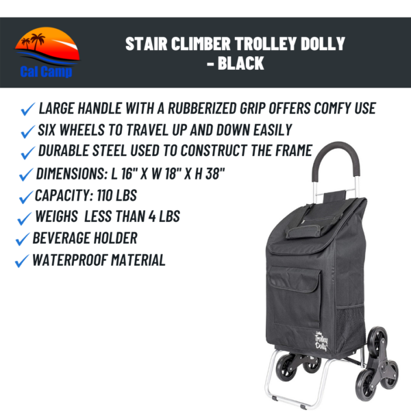 Stair Climber Trolley Dolly – Black