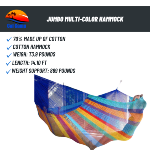 Jumbo Multi-Color Hammock
