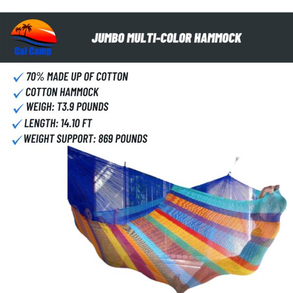Jumbo Multi-Color Hammock