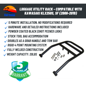 Luggage Utility Rack – Compatible with Kawasaki KLX250S, SF (2008-2019)