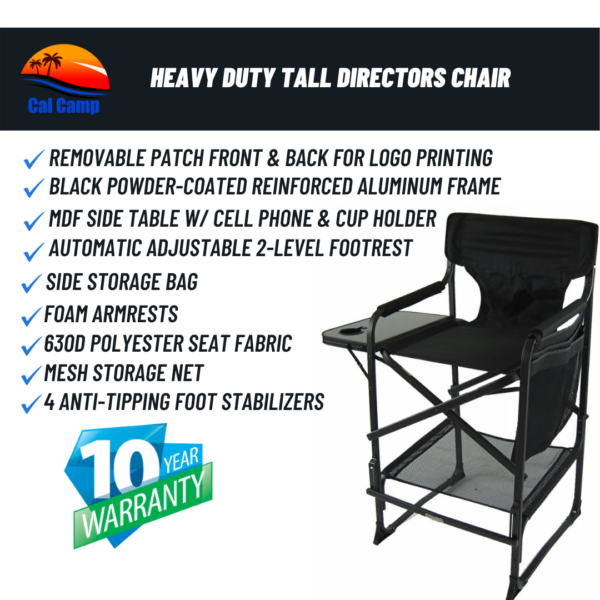 Model # 68XLTT – Heavy Duty Tall Directors Chair