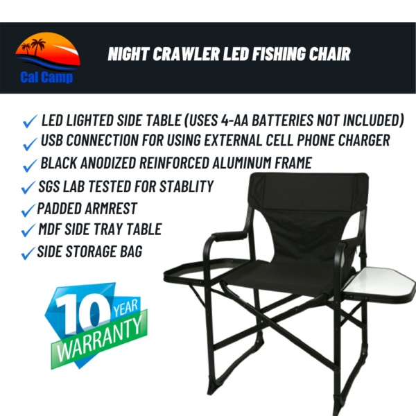 Night Crawler LED Fishing Chair