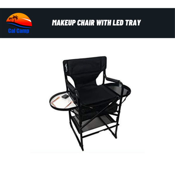 Portable Heavy Duty Makeup Artist Chair with LED Tray Having 29 Inch Height Seat.