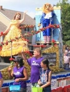 Hire Beauty And The Beast for parades, Safe Serenade Singing Telegrams SAFE SAME DAY DELIVERIES CALL (773) 776-0800