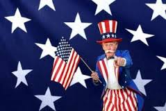 Uncle Sam [[Singing Telegrams Chicago]] Hire a Frog, Groucho, Police woman/ Cop, Leprechaun, Rabbit, Uncle Sam, Elephant, DANCING TELEGRAMS. Costs $125 for more than a singing telegram, a three songs SAFE SERENADE.