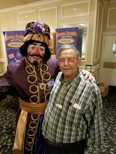 Chicago's Magician, Mr. Ash, with Wizzo of Bozo's Circus. Beloved Mr. Ash passed away on July 3, 2020. He was born on July 26, 1939. Many of us have fond memories of his magic tricks on prime rib night at O'Donovan's on Irving Park Rd. (the old Schulien's Brew Pub) & riding our bikes down Western as children to explore Ash's Magic shop, 4955 N Western Ave. Chicago, IL