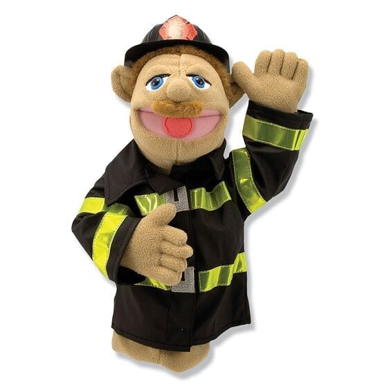 "Hire Puppet Shows:  Here's our Ralph the Fireman puppet, featured in person, for a full length One hour - PUPPET SHOW with a portable puppet theater $250.00   Singing Telegram with 2 puppet ""MEET & GREET"" 125.00 Call - Clare T Ashley  (847) 676-9295"
