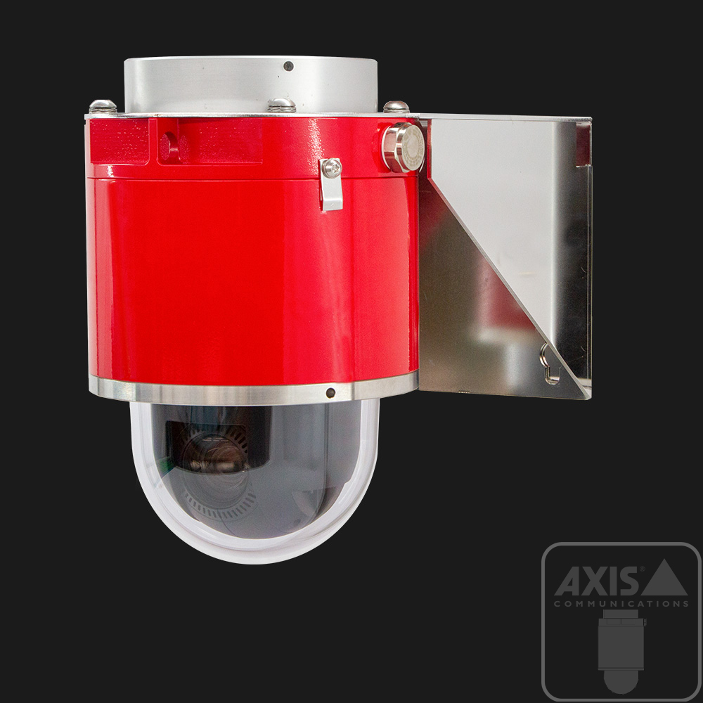 Red explosion-protected ptz camera with axis communications sensor inside