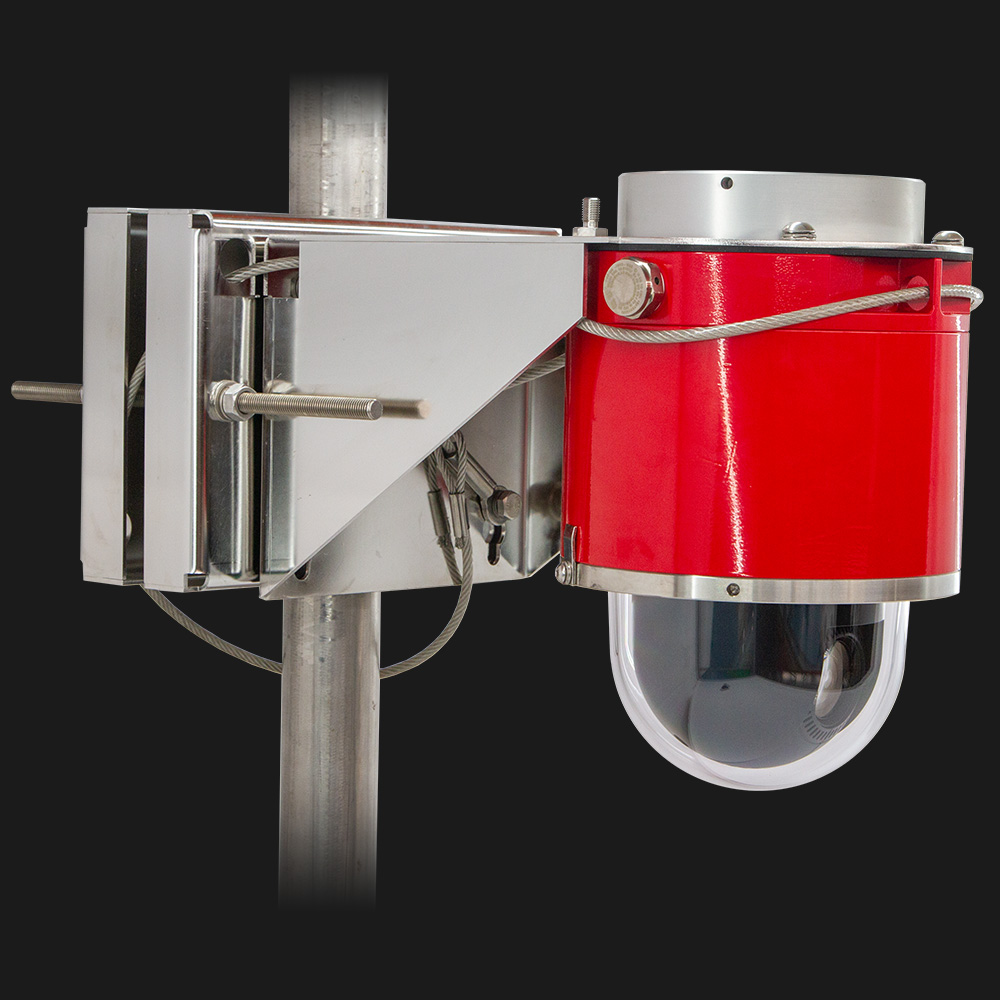 Red explosion-protected dome camera
