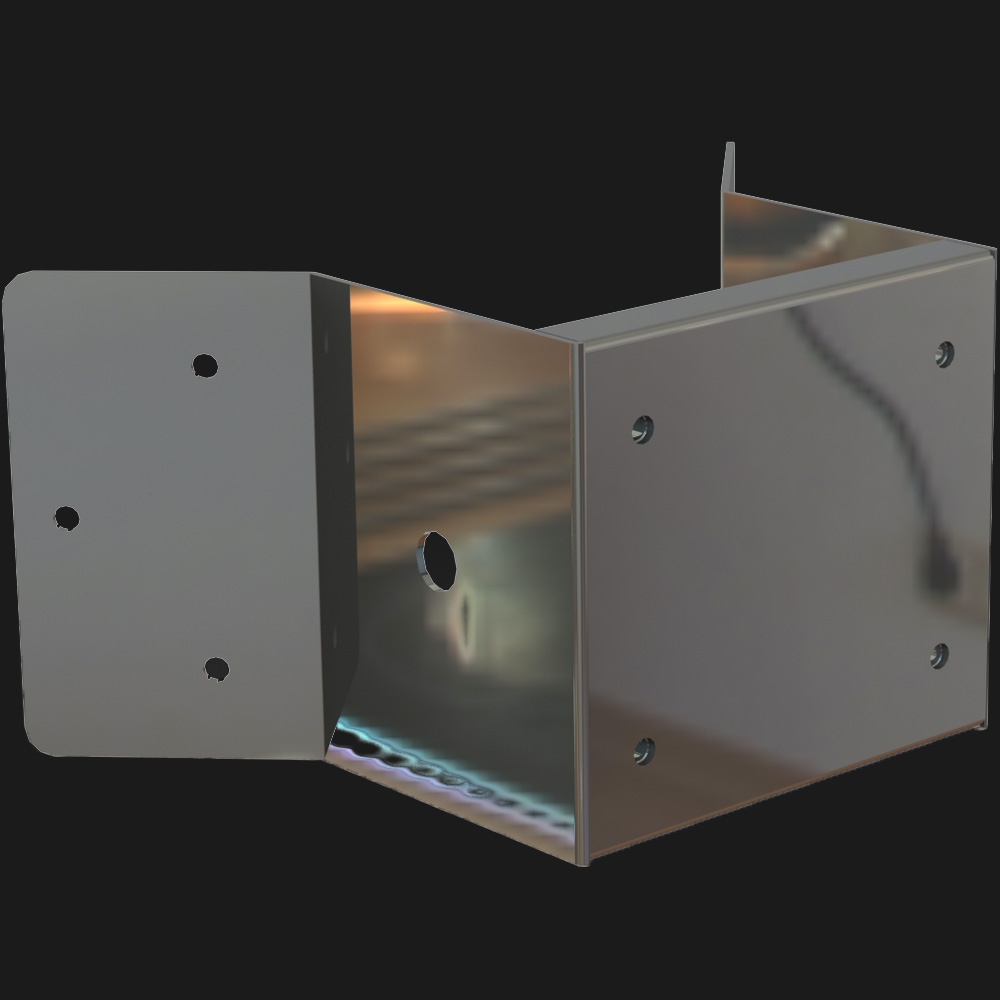 Stainless Steel Corner Mount for Explosion-Proof Cameras