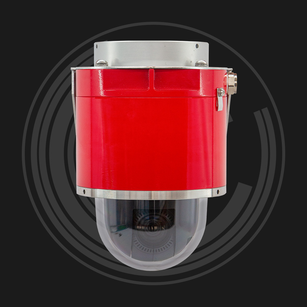 Red explosion proof dome camera