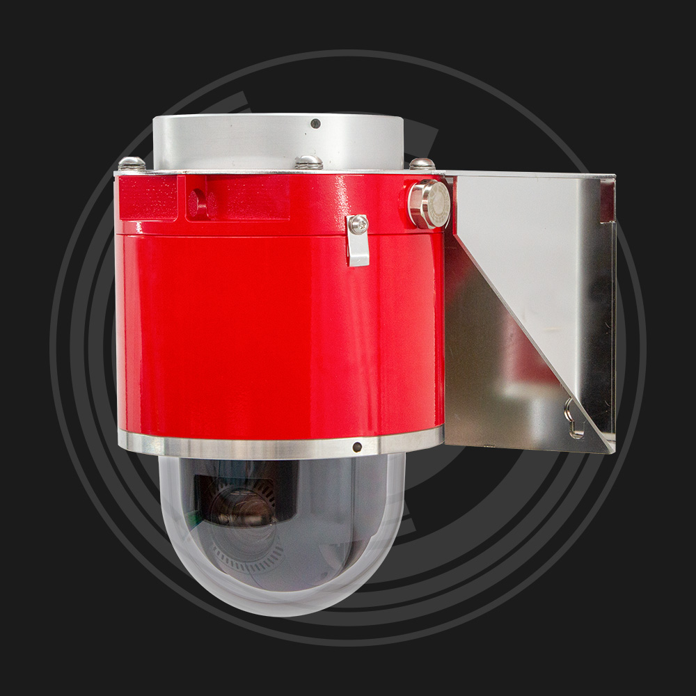 Red explosion-proof dome camera