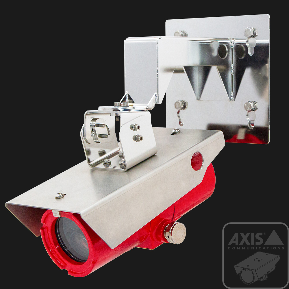Red Explosion-Protected Camera with axis sensor