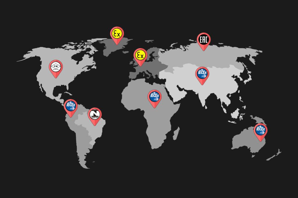 Hazardous Area Classifications on Global Map