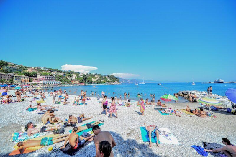 Sunny vacation beach