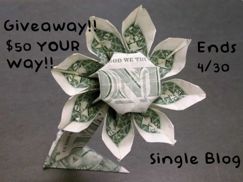 $50 Your Way Giveaway. PayPal, Gift Card or?? You choose.