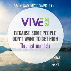 VIVE CBD $50 GC Giveaway