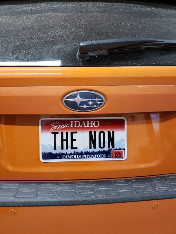 The Non license plate