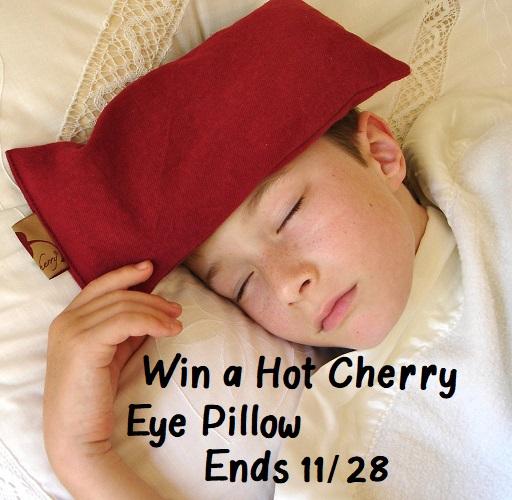 Win Hot Cherry Eye Pillow