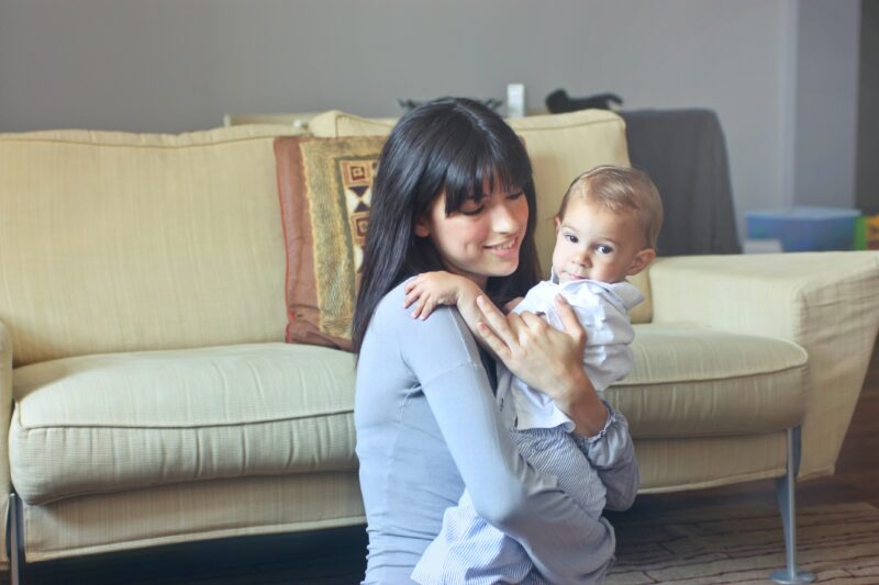 Woman  and toddler