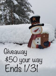 Win $50 your way Ends 1/31