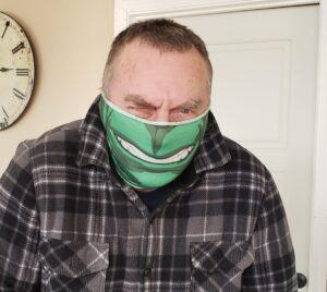 The hulk facemask