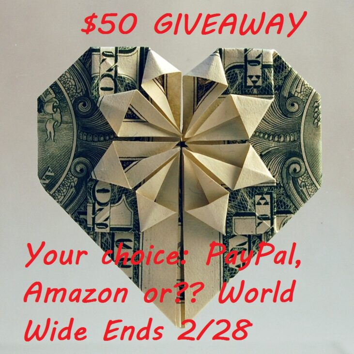 February Single Blog Giveaway $50 Your Way