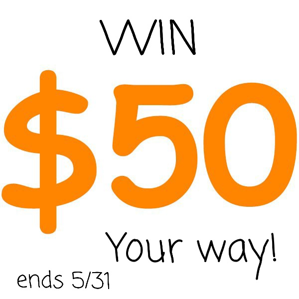 Win $50 your way. Single blog