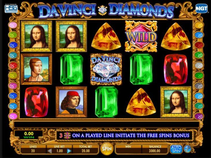 Davinci diamond slot