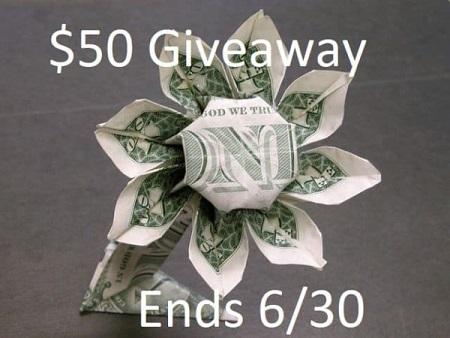 $50 Giveaway June