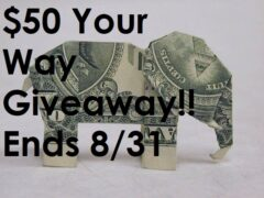 $50 Giveaway August 2021