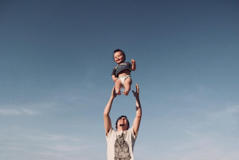 Baby in the air