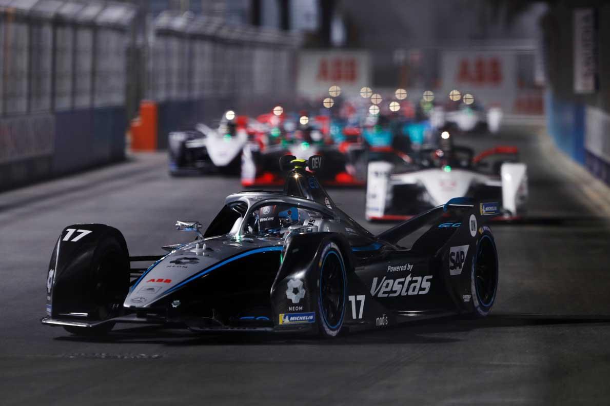 Mercedes-EQ Formula E Team And Neom Celebrate Diriyah e-Prix Success