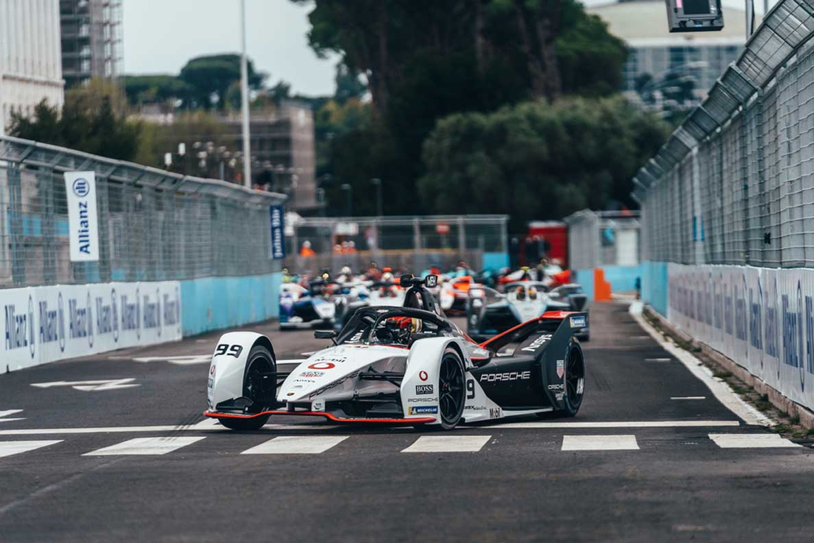 Pascal Wehrlein Gives Porsche Its First 2021 Formula E Podium In Rome