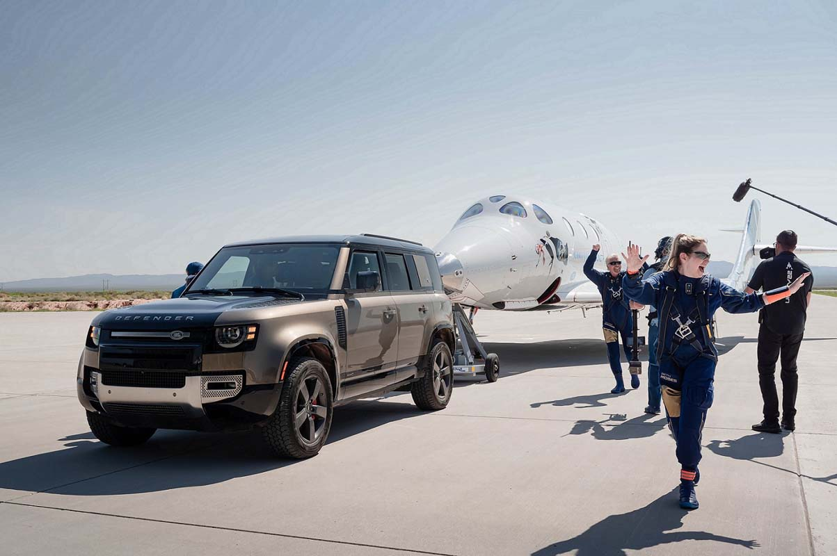 Above And Beyond – Land Rover Supports Virgin Galactic's first Fully Crewed Space Flight