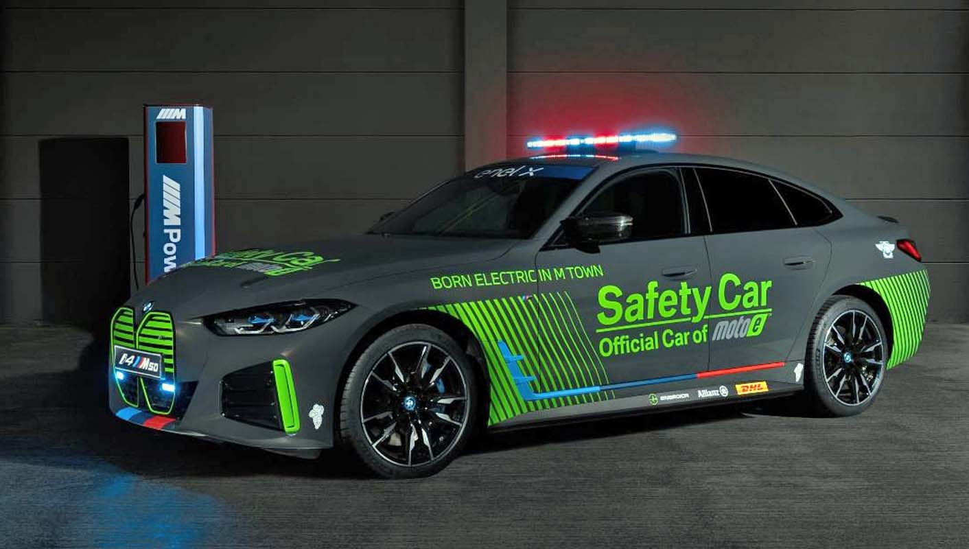 BMW i4 M50 – The Official Safety Car for the FIM Enel MotoE World Cup